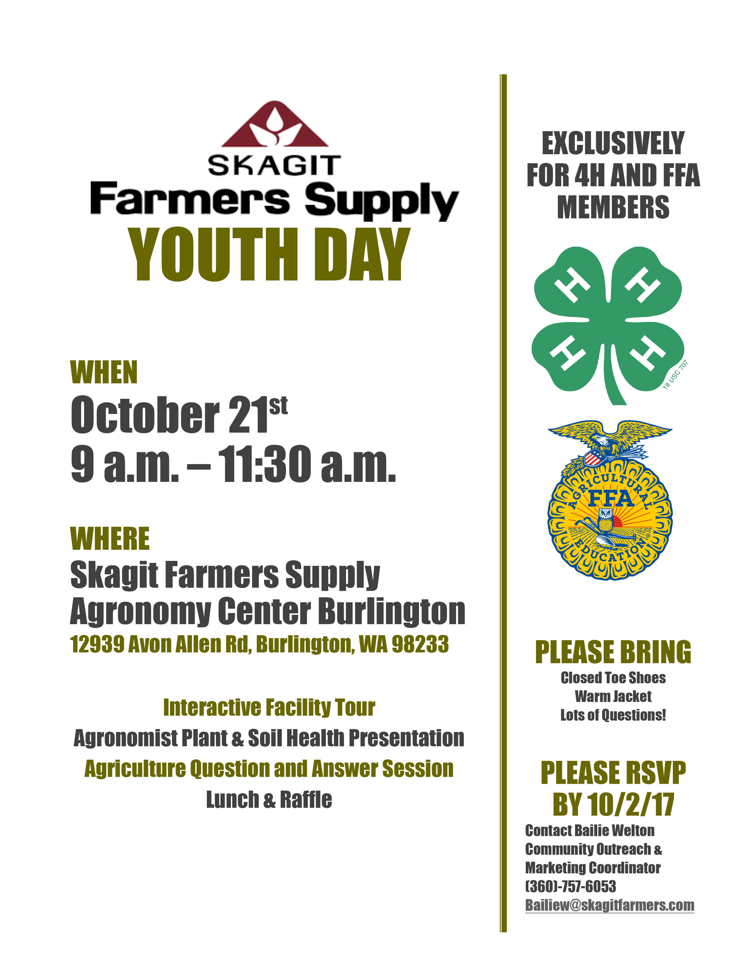 Join us for Youth Day! - Country Store - Farm - Pet - Home